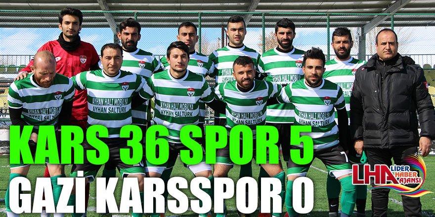 Kars 36 Spor 5 Gazi Karsspor 0