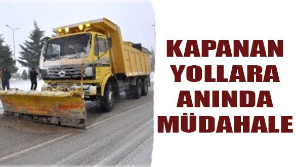 Kars'ta Kapalı Köy Yollarına Müdahale Edildi!