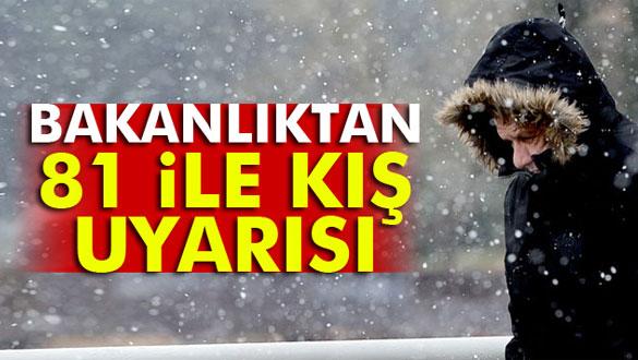İçişleri Bakanlığı'ndan kritik kış uyarısı