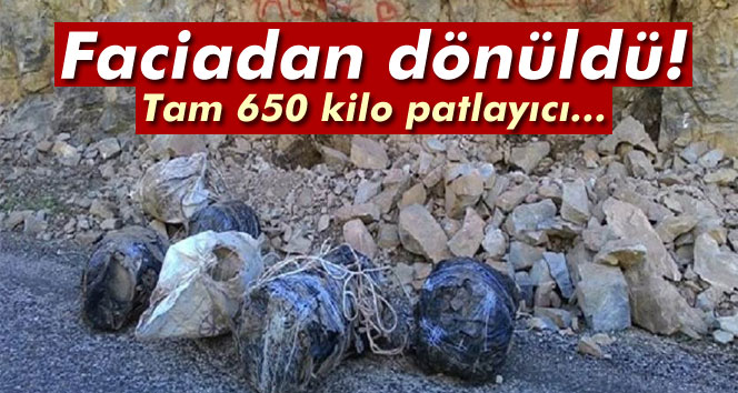 Tunceli´de 650 kilo patlayıcı ele geçirildi