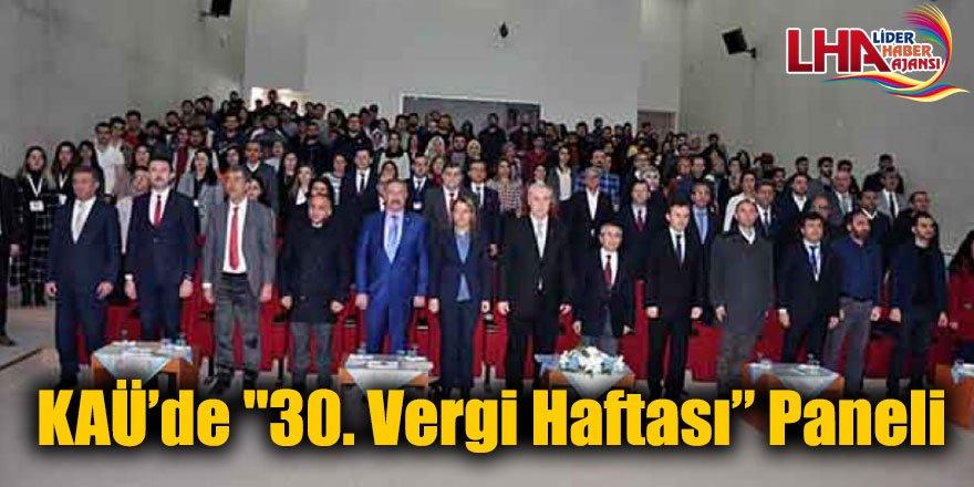 """KAÜ'de """"30. Vergi Haftası"""" Paneli"""