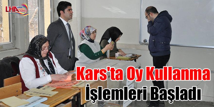 Kars'ta oy kullanma işlemleri başladı