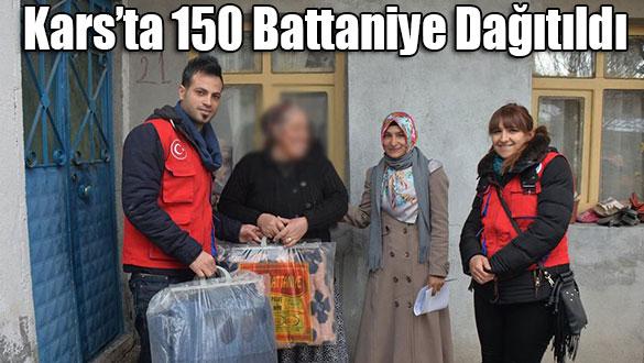 Kars'ta 150 Battaniye Dağıtıldı