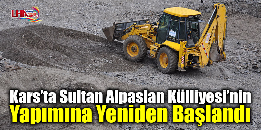 Kars'ta Sultan Alpaslan Külliyesi'nin yapımına yeniden başlandı