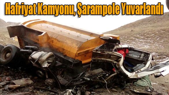 Hafriyat Kamyonu, Şarampole Yuvarlandı