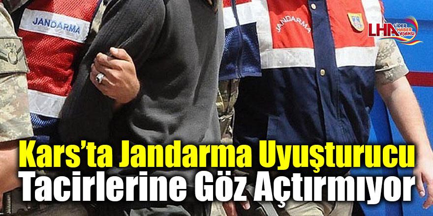 Kars'ta jandarma uyuşturucu tacirlerine göz açtırmıyor