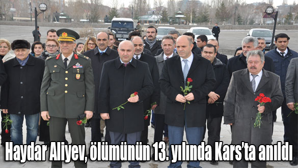Haydar Aliyev, ölümünün 13. yılında Kars'ta anıldı