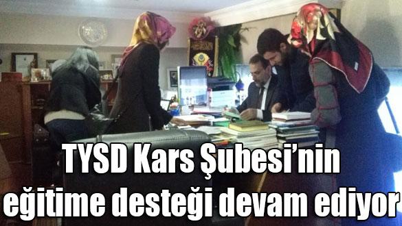 TYSD Kars Şubesi´nin eğitime desteği devam ediyor