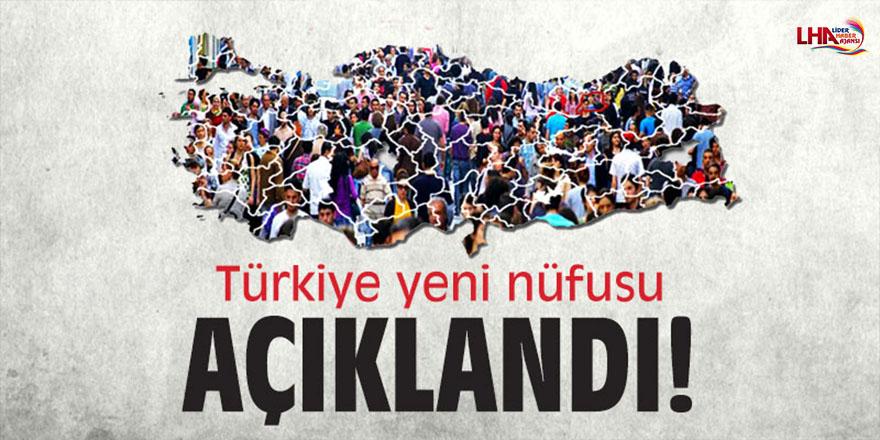 Türkiye yeni nüfusu açıklandı!