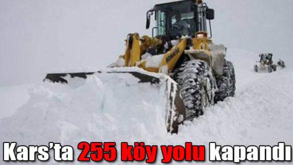 Kars'ta 255 köy yolu kapandı