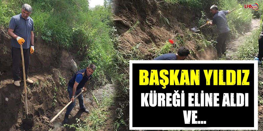 BAŞKAN YILDIZ KÜREĞİ ELİNE ALDI VE...
