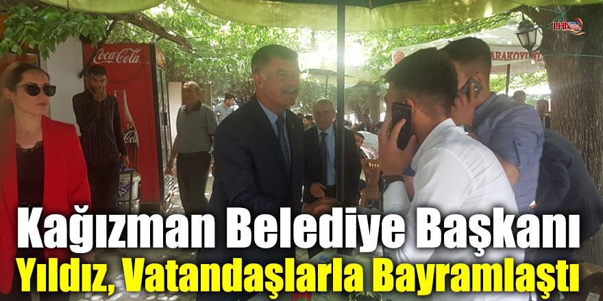 Kağızman Belediye Başkanı Yıldız, Vatandaşlarla Bayramlaştı