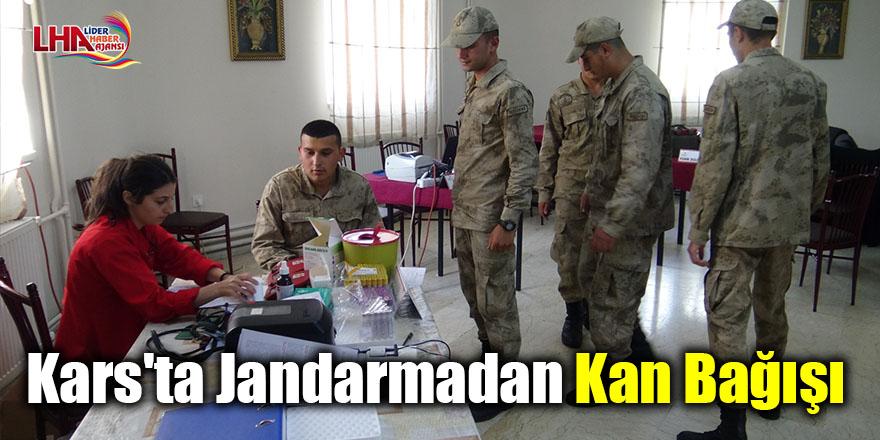 Kars'ta jandarmadan kan bağışı
