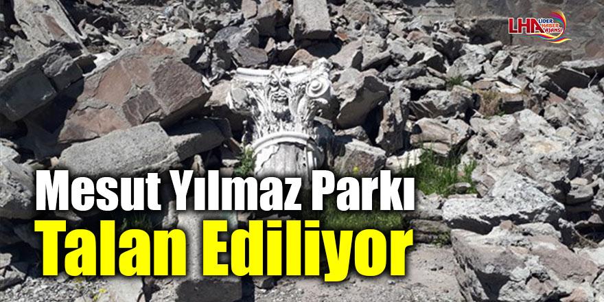 Mesut Yılmaz Parkı talan ediliyor