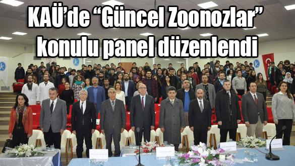"""KAÜ'de """"Güncel Zoonozlar"""" konulu panel düzenlendi"""