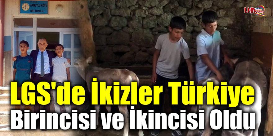 LGS'de ikizler Türkiye birincisi ve ikincisi oldu