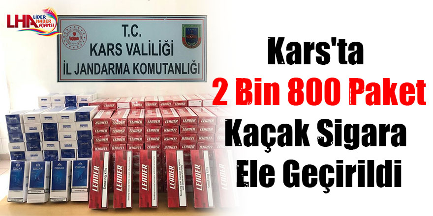 Kars'ta 2 bin 800 paket kaçak sigara ele geçirildi