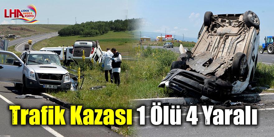 Trafik Kazası 1 Ölü 4 Yaralı