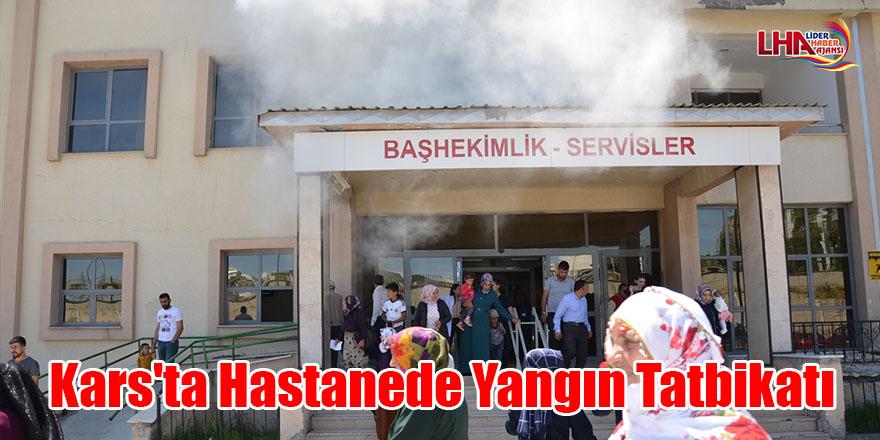 Kars'ta hastanede yangın tatbikatı