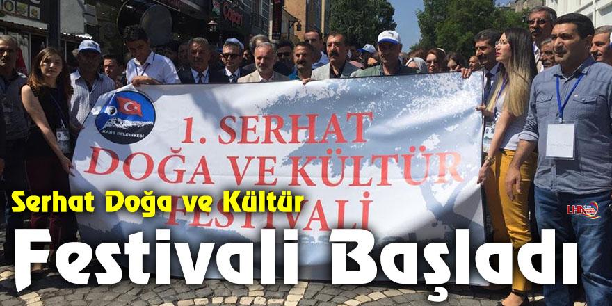 Serhat Doğa ve Kültür Festivali etkinlikleri kortej yürüyüşü ile başladı