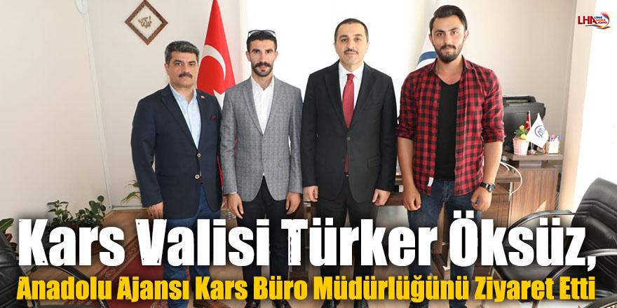 Kars Valisi Türker Öksüz, Anadolu Ajansı (AA) Kars Büro Müdürlüğünü Ziyaret Etti
