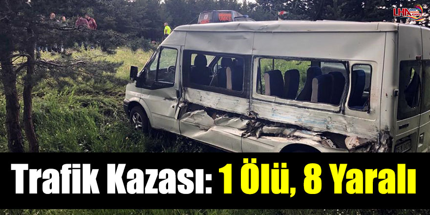 Trafik Kazası: 1 Ölü, 8 Yaralı