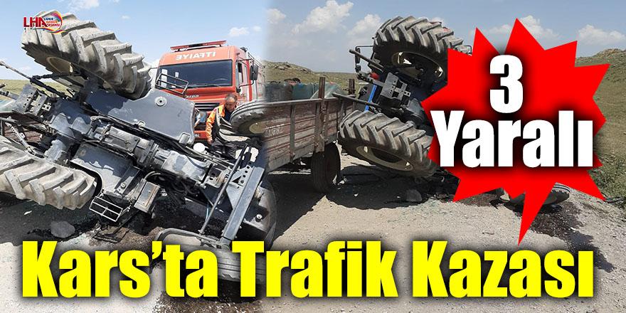 Kars'ta Trafik Kazası: 3 Yaralı