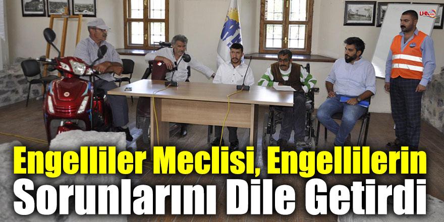 Engelliler Meclisi, Engellilerin Sorunlarını Dile Getirdi