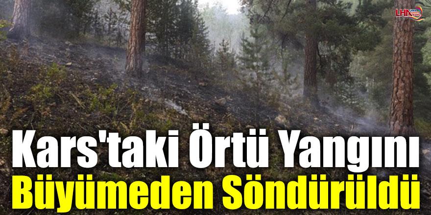 Kars'taki Örtü Yangını Büyümeden Söndürüldü