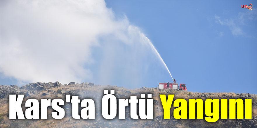 Kars'ta Örtü Yangını