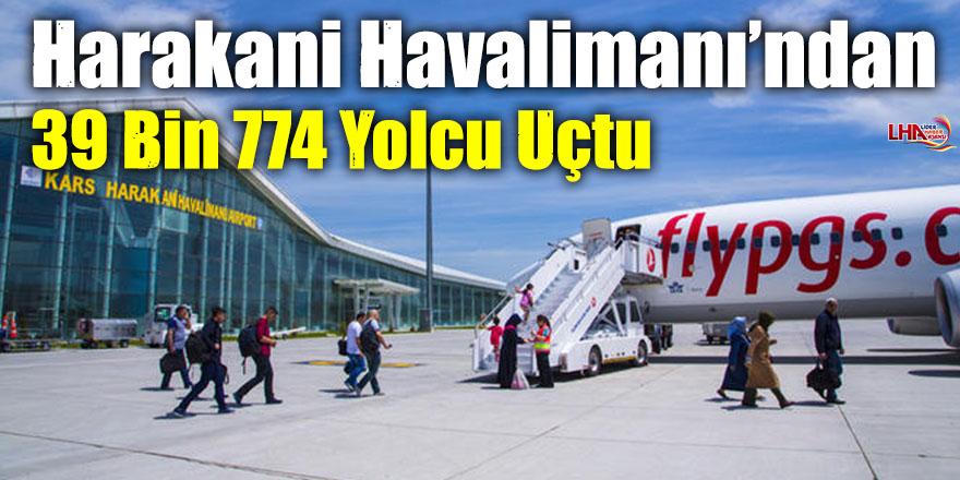 Harakani Havalimanı'ndan 39 Bin 774 Yolcu Uçtu