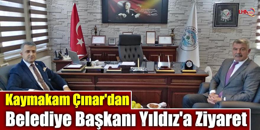 Kaymakam Çınar'dan Belediye Başkanı Yıldız'a Ziyaret