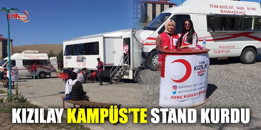 KIZILAY KAMPÜS'TE STAND KURDU