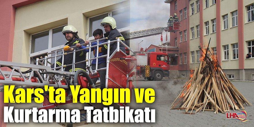 Kars'ta Yangın ve Kurtarma Tatbikatı