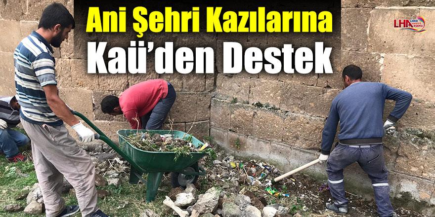 Ani Şehri Kazılarına Kaü'den Destek