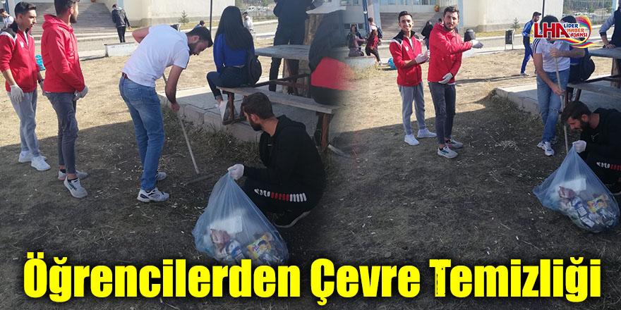 Sarıkamış'ta Öğrencilerden Çevre Temizliği