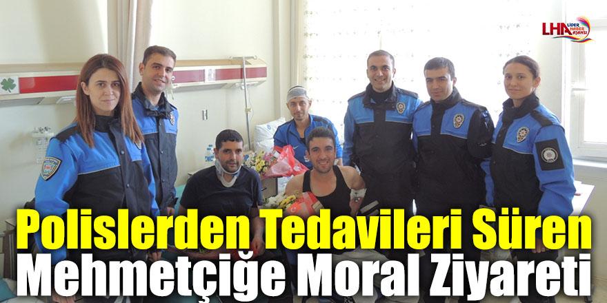 Polislerden Tedavileri Süren Mehmetçiğe Moral Ziyareti