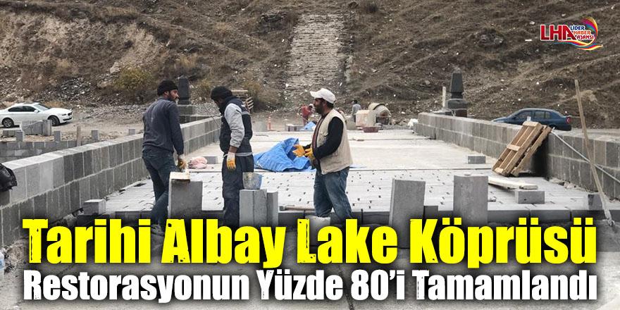 Tarihi Albay Lake Köprüsü Restorasyonun Yüzde 80'i Tamamlandı