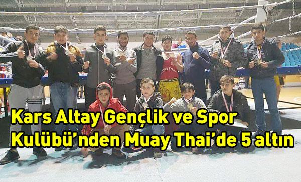 Kars Altay Gençlik ve Spor Kulübünden Muay Thai'de 5 altın