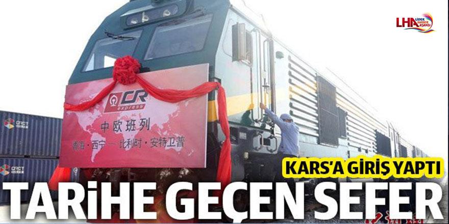 Çin'den Avrupa'ya gidecek ilk tren Kars'ta