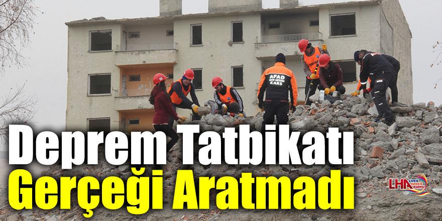 Kars'ta AFAD Gönüllüleri ve Ekiplerinin Yaptığı Deprem Tatbikatı Gerçeğini Aratmadı