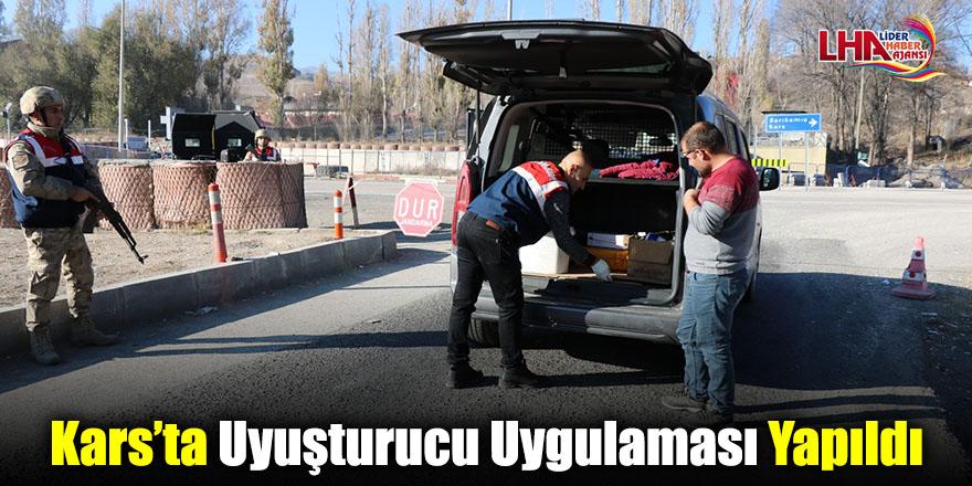 Kars'ta Uyuşturucu Uygulaması Yapıldı