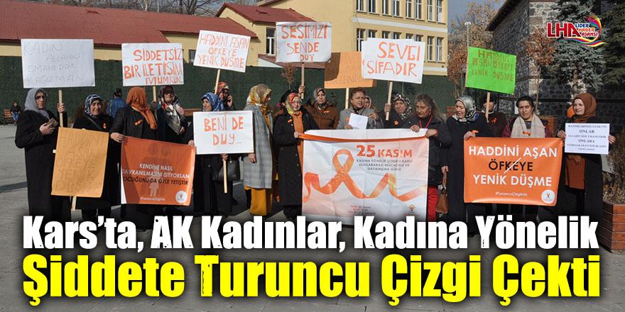 Kars'ta, AK Kadınlar, Kadına Yönelik Şiddete Turuncu Çizgi Çekti