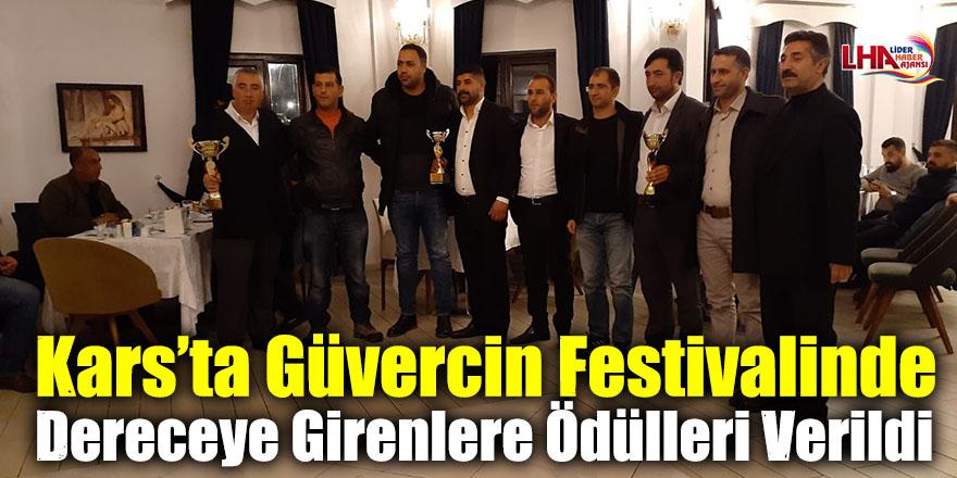 Kars'ta Güvercin Festivalinde Dereceye Girenlere Ödülleri Verildi