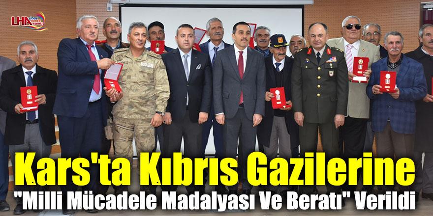 """Kars'ta Kıbrıs Gazilerine """"Milli Mücadele Madalyası Ve Beratı"""" Verildi"""