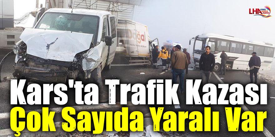 Kars'ta Trafik Kazası Çok Sayıda Yaralılar Var