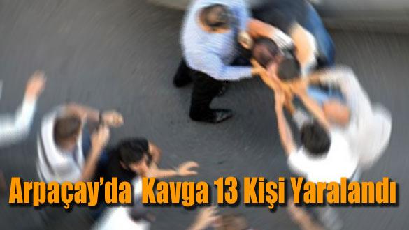 Arpaçay'da  Kavga 13 Kişi Yaralandı