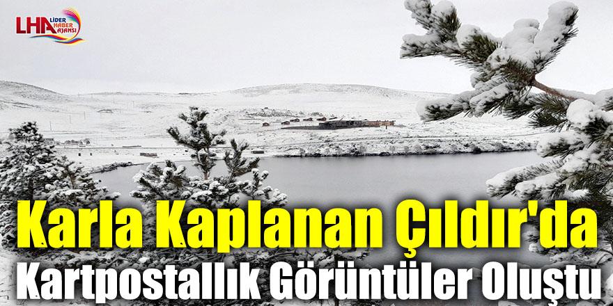 Karla Kaplanan Çıldır'da Kartpostallık Görüntüler Oluştu
