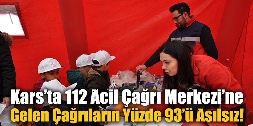 Kars'ta 112 Acil Çağrı Merkezi'ne Gelen Çağrıların Yüzde 93'ü Asılsız!