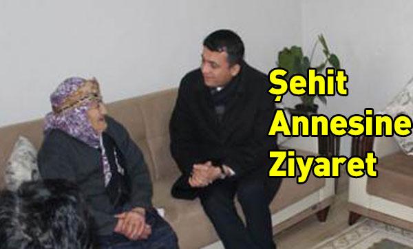 Selim Kaymakamından Şehit Annesine Ziyaret